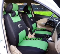Car Seat Cover For All Toyota 2 Front Seats only 2 one-piece Style Car Covers+Multi-Color Breathable Material+Logo+Free Shipping