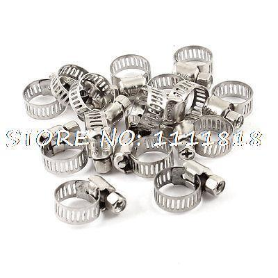 15 x 6mm-12mm Adjustable Stainless Steel Worm Drive Hose Ring Clamps(China (Mainland))