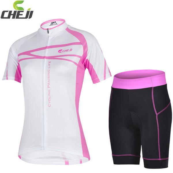 New arrival 2015 CHEJI camisa de ciclismo / bicicleta Jersey e shorts apertados / mulheres vestuário / bicicleta roupas grátis frete(China (Mainland))