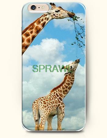 DIY printed for iPhone Case custom printed Hard Phone Case Cover for Apple iPhone 6 and for iPhone 6plus-Natural: Giraffe(China (Mainland))