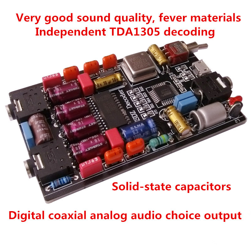 Assembly Top decoding PCM2706 DAC TDA1305 decoder amp Notebook PC USB sound card headphone amplifier+free shipping(China (Mainland))