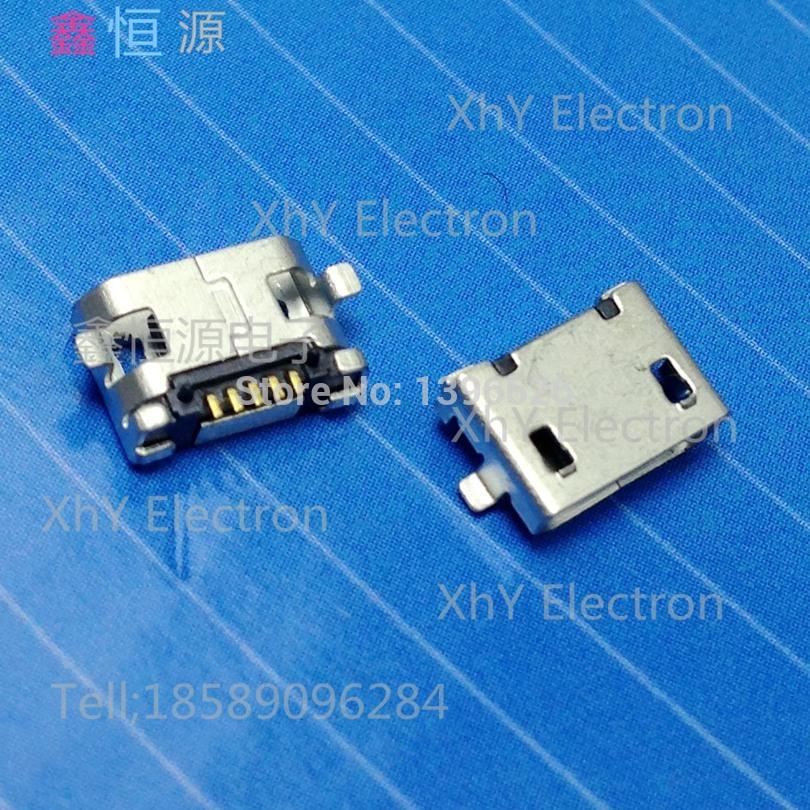 Free Shipping 50pcs Micro USB 5P,5-pin Micro USB Jack,USB Connector copper mobile phone(China (Mainland))