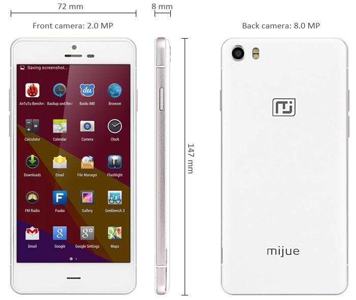 Free gift original mijue M690+ octa core MT6592 1G ram 8G rom dual sim 5.0 inch HD ips screen 3G samrt phone(China (Mainland))