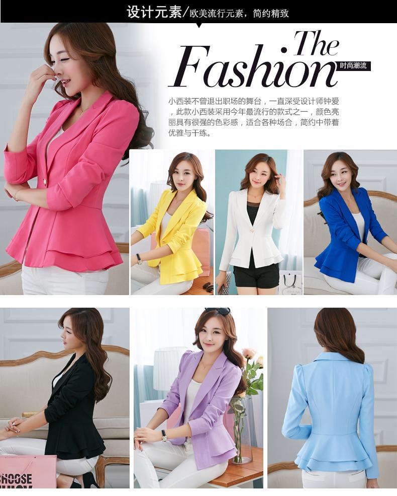 Jacket With Peplum Pattern Peplum Jacket Woman Blazer