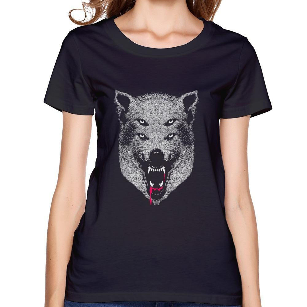 New Coming Swag Hungry like two Wolves woman t shirt Normal O-Neck t shirts For Lady(China (Mainland))