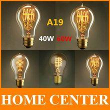 A19 Antique Retro Vintage E27 40W 60W  220-240V  Edison Light Bulb Incandescent Light Squirrel-cage Edison lamp(China (Mainland))