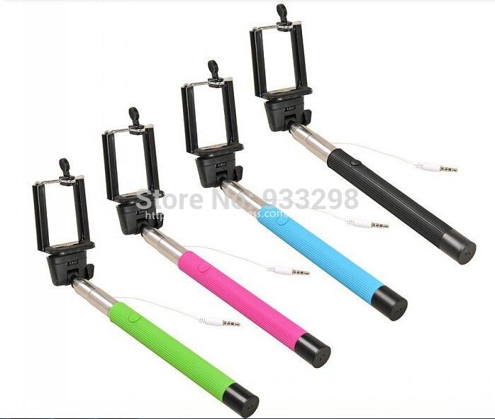 Z07-5S plus Extendable self selfie Monopod Cable Selfie Stick Camera Tripod for iPhone 4 5 6 plus Samsung LG Android pau de(China (Mainland))