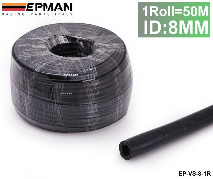 TANSKY - 50M ID:8MM Silicone Silicon Vacuum Hose Oil Turbo Dump Radiator Rubber Air Vac Pipe Black EP-VS-8-1R(China (Mainland))
