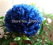 "Decorative Flowers!100pcs 10"" 25cm Tissue Paper Pom Poms Artificial Paper Flower Balls Birthday Party Wedding&Home Decoration"