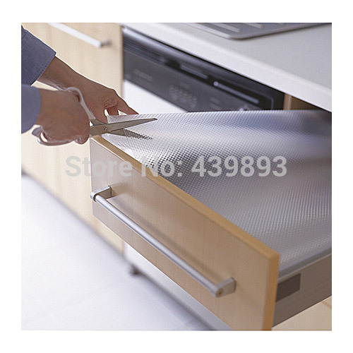 50* 100cm wardrobe mat drawer kitchen cabinet pad kitchen mat waterproof transparent slip-resistant dining table mat tablecloth(China (Mainland))