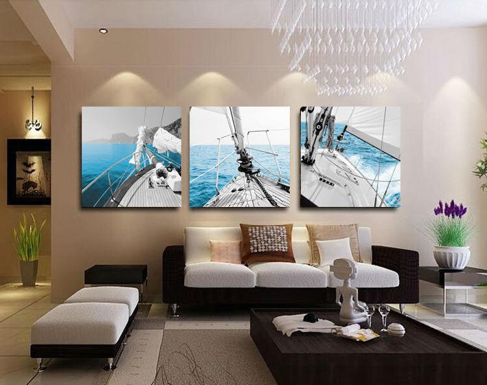 Acquista all 39 ingrosso online dipingere paesaggi marini da for Peinture pour salon moderne