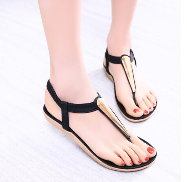 2015 New summer shoes woman sandals women sandal for women flats flip flops Wedges sandal Girl women sandy beach(China (Mainland))