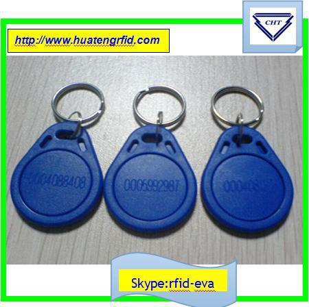 key fob 200PC/Lot RFID Tag 125Khz Key fobs rfid Access Control dog tag RFID Smart Card Of ID Card Blue yellow red HID Card(China (Mainland))