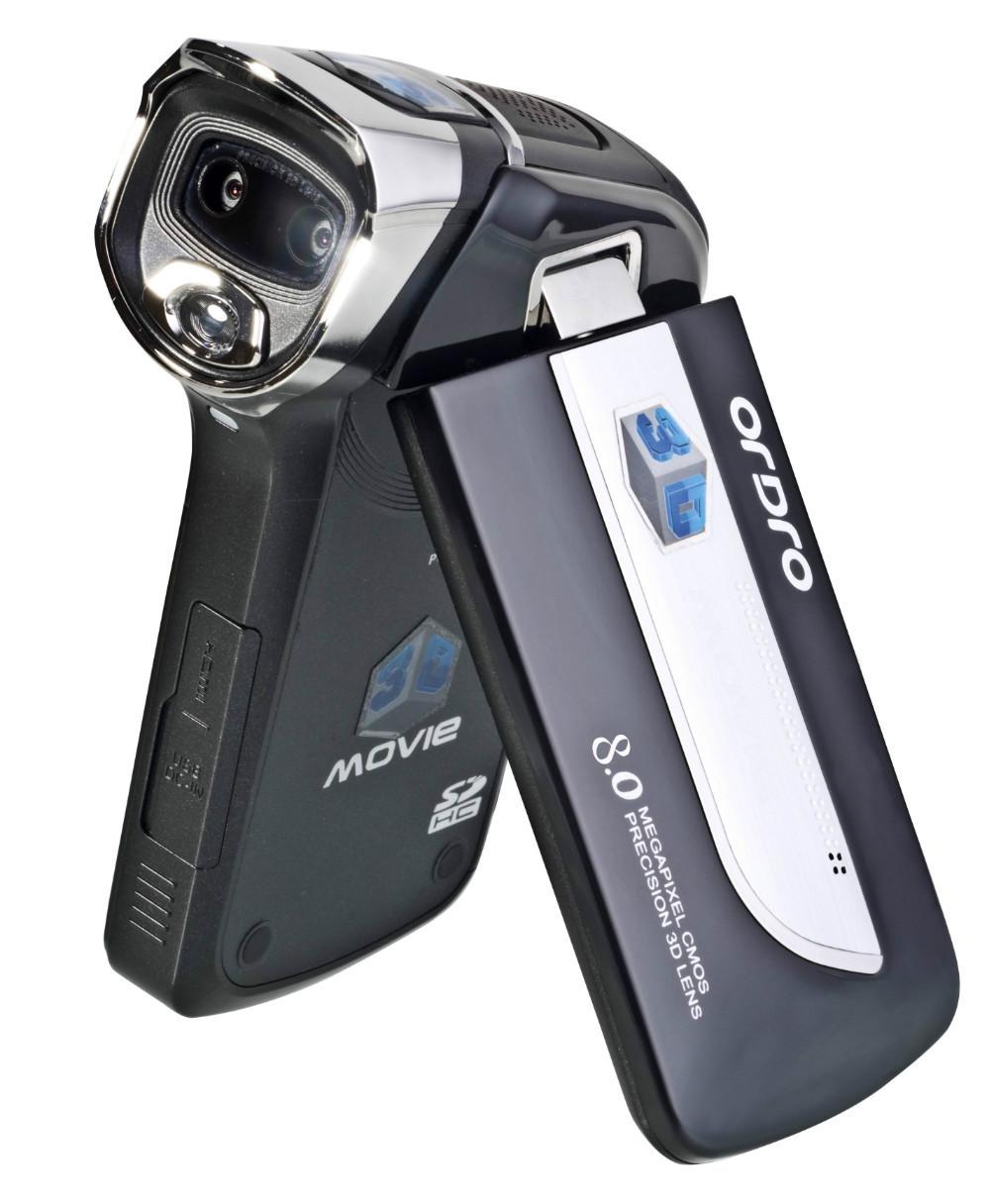 HDV-VD1 720p HD 4X digital zoom 5M CMOS Sensor X 2 3D camcorder mini video camera usb 2.0 Li-in battery Family DV(China (Mainland))