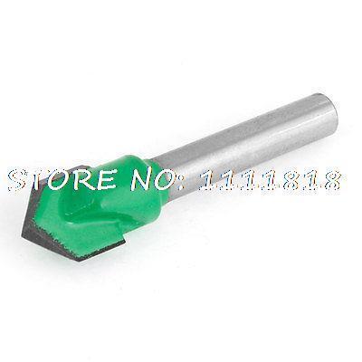 "CNC Machine Metal V Type Slotting Cutter Router Grooving Bit 1/4"" x 3/8""(China (Mainland))"