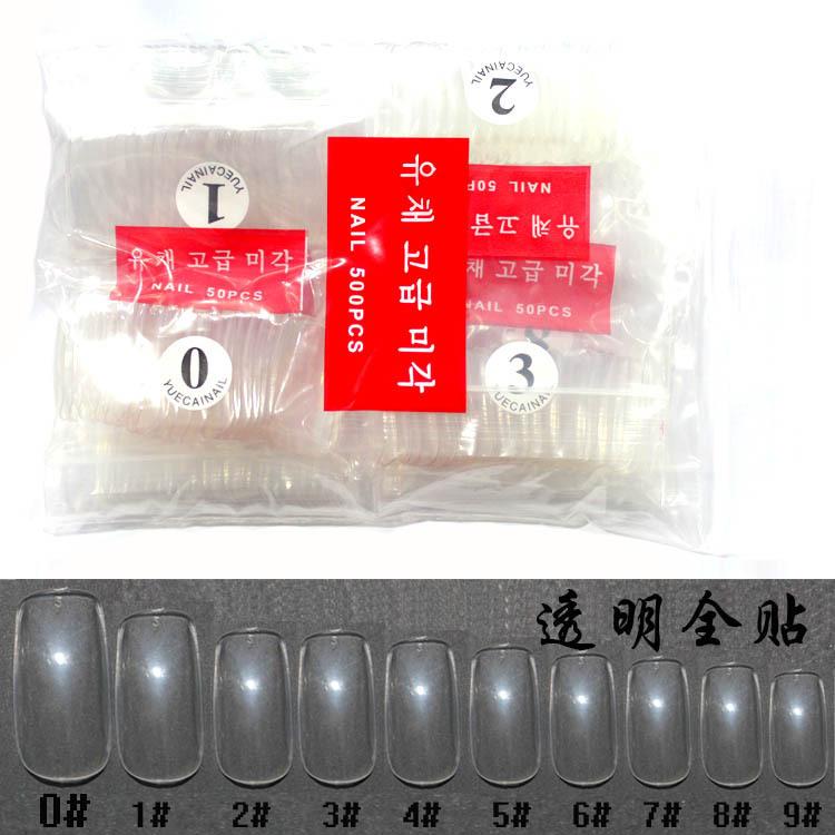 500pcs Transparent False Nails Art Design Tips acrylic gel salon fingernails beauty nail tools(China (Mainland))