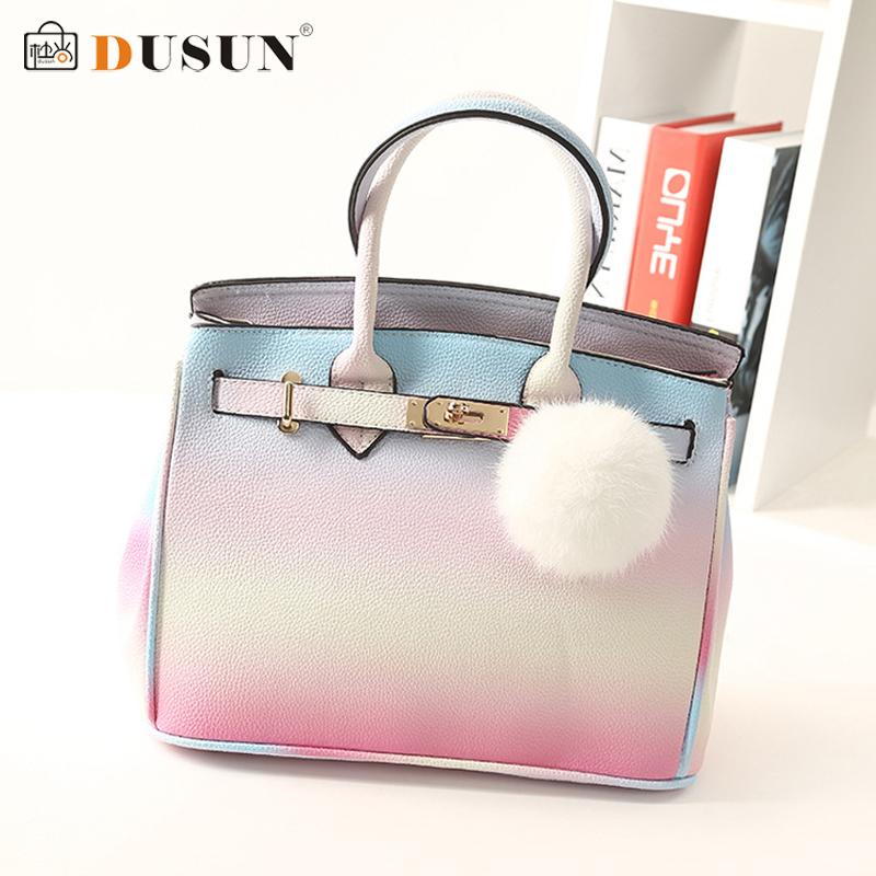 2015 New famous brand women bag high quality real genuine leather handbag rainbow color shoulder bag designer bolsa feminina sac