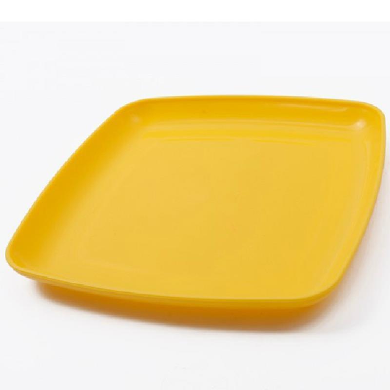 Bandeja decorativa servindo bandeja tigela de frutas amarelo europeia simples lanche quadrado / frutas ferramentas placa de cozinha(China (Mainland))