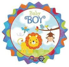 """12 """" Low Elevation menino Safari balão de festa decoração leão macaco chuveiro(China (Mainland))"""