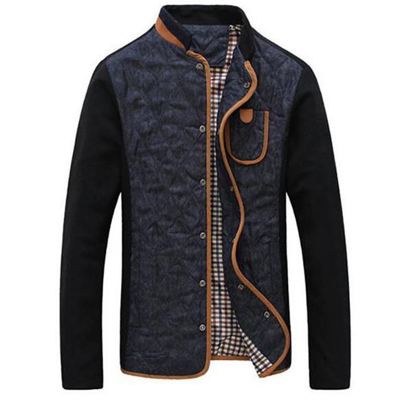 2015 New Hot Men Casual High Quality Mandarin Collar Men Coat Jacket Spring And Autumn(China (Mainland))