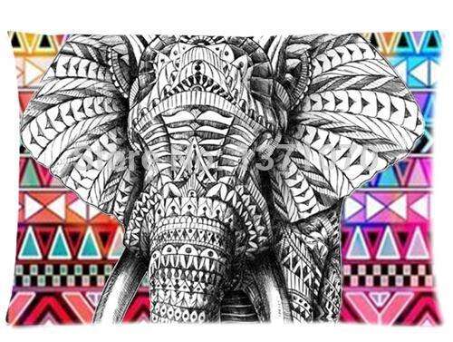 Personalizado bonito do elefante melhor agradável decoração de cama Fanshion elegante definindo retângulo Pillow Covers casos 40 cm x 60 cm U6556(China (Mainland))