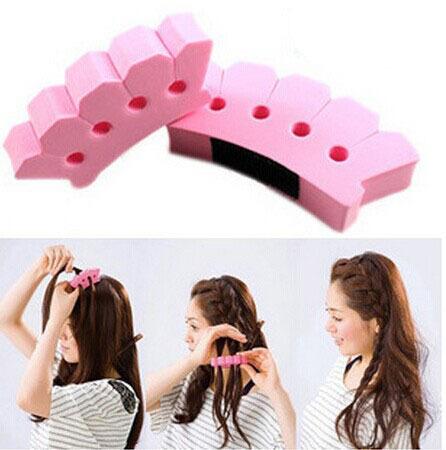 1Pcs New DIY Sponge Magic Hair French Braider Hair Twist Styling Braid Tool Holder Clip Hairdo Item(China (Mainland))