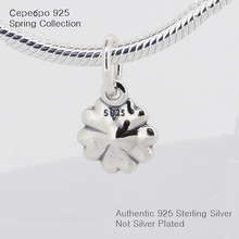 Fits Pandora Charms Bracelet 925 Sterling Silver Bead Primrose Silver Charms with White Enamel Women DIY