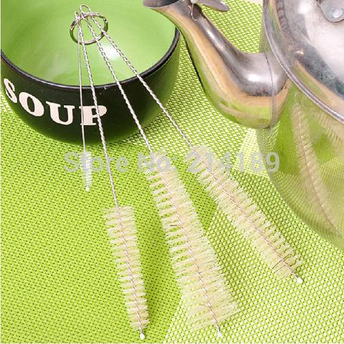 4pcs Baby Bottle Nipple Kettle Spout Teapot Nozzle Tube Kitchen Clean Brush Set(China (Mainland))