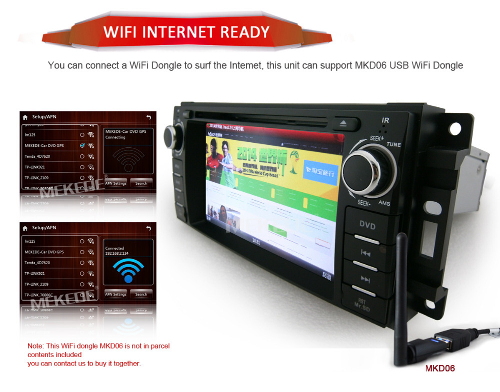 HD 1 din 6 2 Car GPS navigation cassette Player for Chrysler 300C Dodge Jeep With