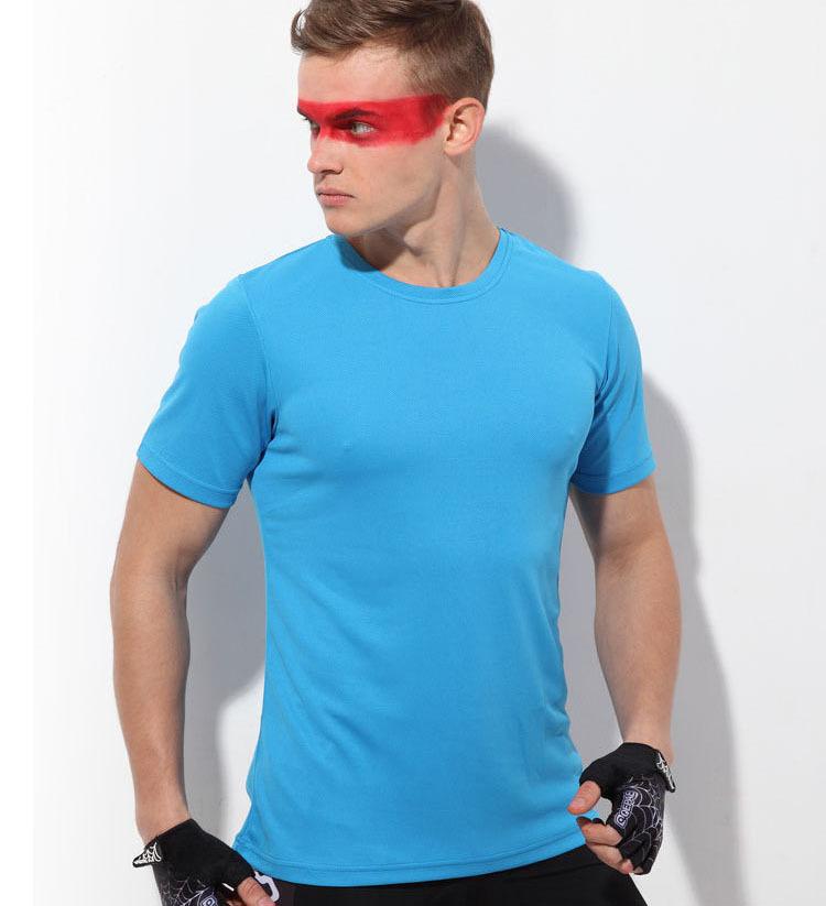 2015 summer new Casual short sleeve fashion men Tee Shirt Slim Fit Tops cycling Quick Drying Sport Shirt popular T-Shirts(China (Mainland))