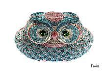 Animal Shape Owl New crystal luxury women handbags 100 handmade women cute bags CO9323
