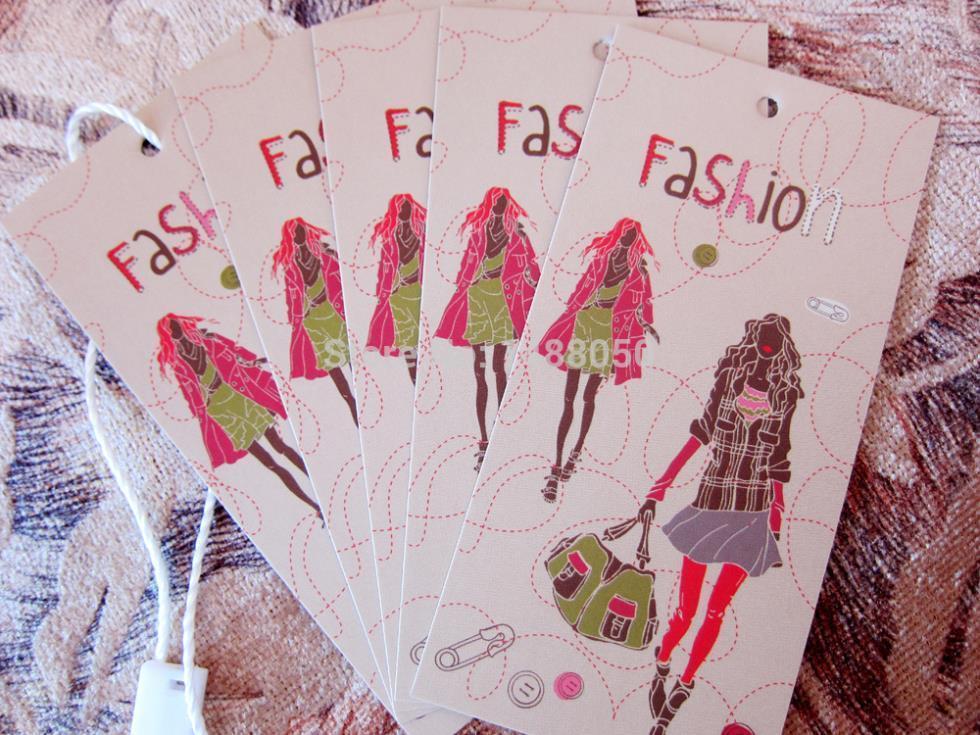 500PCS shipping DIY custom clothing label,personalized labels,custom hang tags,custom shirt tag labels(China (Mainland))