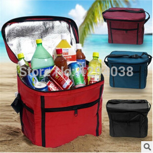 Top! 27x24x17CM Large Thicken Folding Fresh Keeping Cooler Bag Lunch Bag For Food Fruit Seafood Steak Insulation Thermal Bag(China (Mainland))