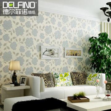 Delfino wallpaper 3D stereoscopic romantic idyllic luxury bedroom, living room TV backdrop carved craft(China (Mainland))