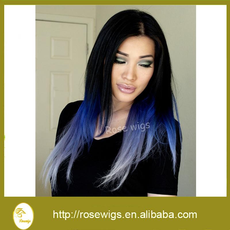 Brazilian weave ombre blue