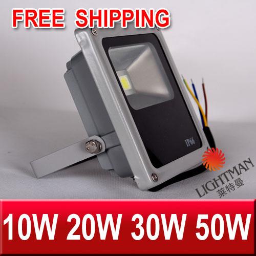 The Newest 10W 20W 30W 50W COB CREE High Power 85V-265V LED Flood Light Outdoor Lamp /Warm White /White(China (Mainland))