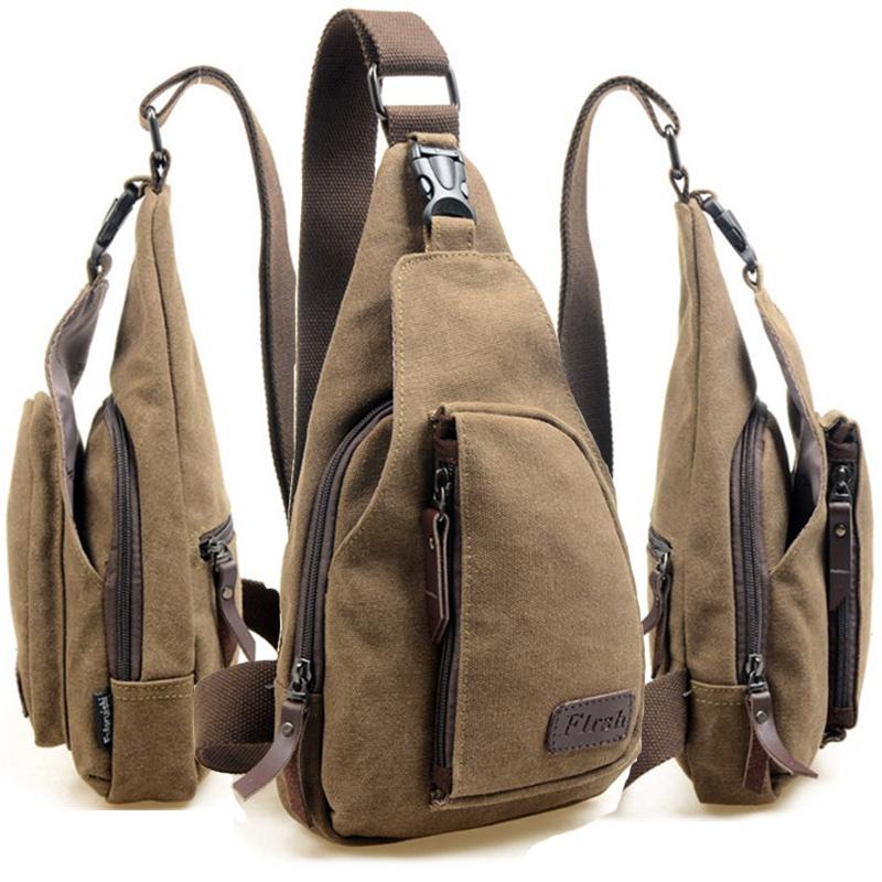 US STOCK! Canvas Male Shoulder Bag, Casual Canvas Bag/ One Single Shoulder Messenger Bag/outdoor Travel Bag Small Sports USB9076(China (Mainland))