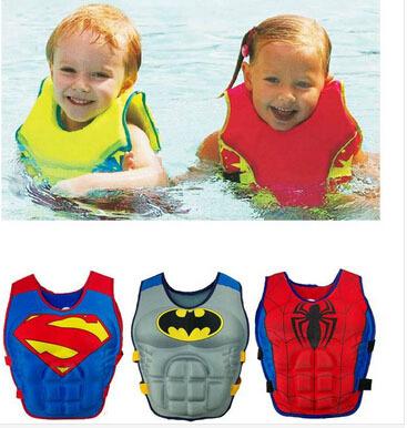 LittleSpring Retail Children Swim Vest(Buoy Vest) Boy girl Batman superman spiderman Swim Ring Float Clothes Swimming Clothing(China (Mainland))