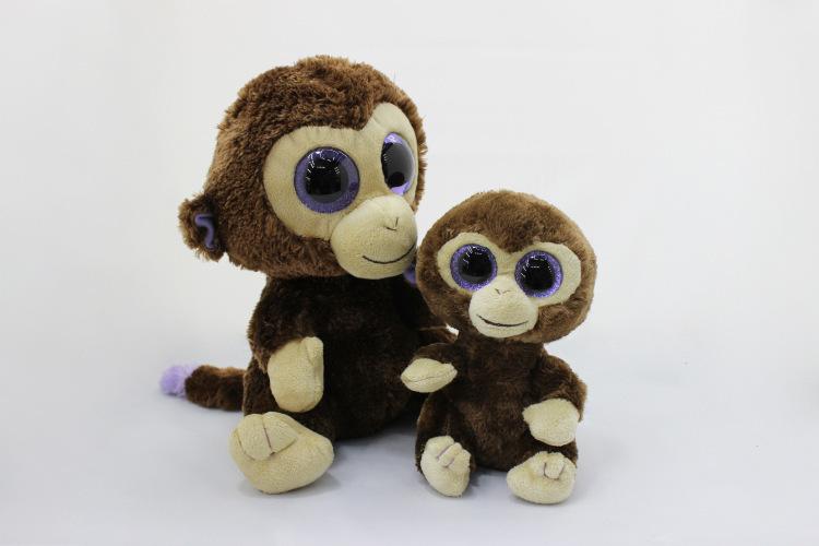 2015 new export large eyes flashing eyes spot monkey plush toy animal doll gift(China (Mainland))