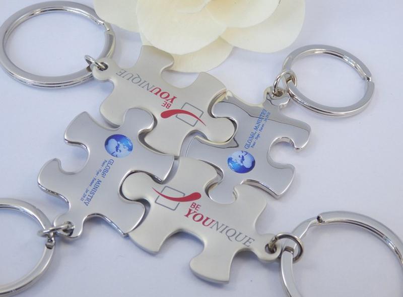 MCH087 1pcs/lot Autism Puzzle Piece Horseshoe Key Chain (RETAIL) 2015 Diy(China (Mainland))