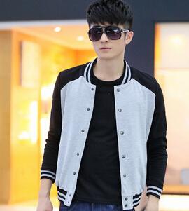 New men's fleece single male Han edition men's fleece baseball uniform fashion(China (Mainland))