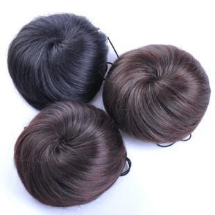 Spot supply rope buckle type fluffy balls straight hair bag wig bag head(China (Mainland))