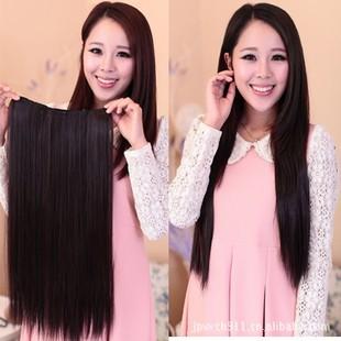 Новый 5 зажим для волос расширения чип утолщенной прямые пять клип реалистичная парик волос кусок продает европа и америка