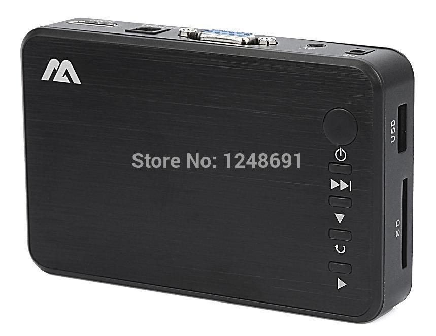 Free shipping New Full HD 1080P USB External HDD Media Player with HDMI USB VGA SD Support MKV H.264 RMVB WMV Aluminum Shell(China (Mainland))