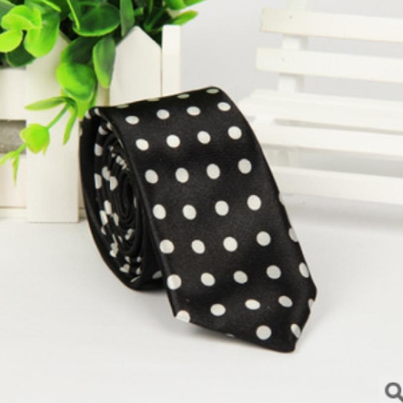 brand ties gravata corbatas hombre Black white dots man 5cm Narrow necktie wedding dress pajaritas hombre4484(China (Mainland))