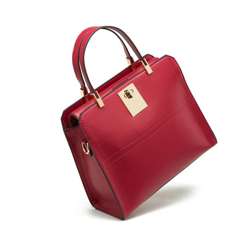 Pieced Patchwork Shoulder Bag 2015 Genuine Leather Women Handbag Fashion Patchwork Shoulder Bags Designer