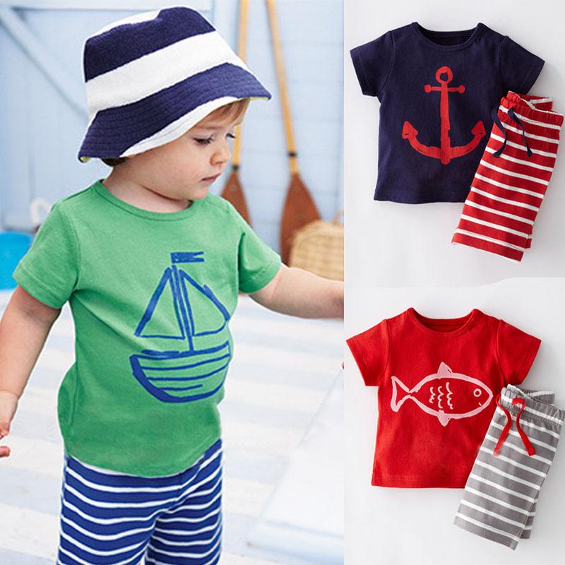 AliExpress.com Product - Summer 2015 Baby Boy Clothing Set Children Sport Suits 100% Cotton Children's Clothing Set T Shirt+Pant Fantasias Infantis CF101