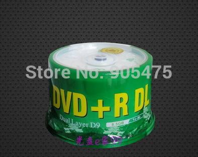 50pcs/lot large capacity disc Blank burn disc DVD DVD+R DL 8.5G 8X D9 Blank Discs Recordable Printable dl DVDR Disc Disk 8.5GB(China (Mainland))