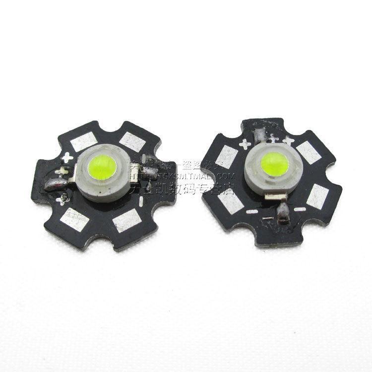 Aluminum plate bright LED lamp beads 2PCS / LOT LED lamp beads 3W high LED strip(China (Mainland))