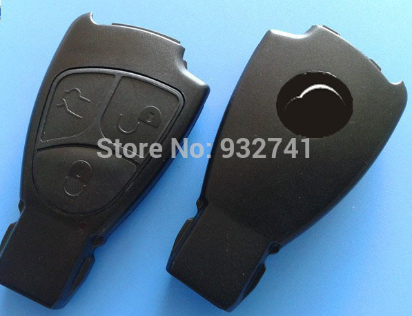 WITH STICKER BRAND NEW MERCEDES BENZ 3 BUTTONS SMART REMOTE KEY FOB CASE COVER (NO BLADE)(China (Mainland))